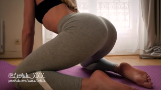 THANK YOU FOR 2017! Yoga pants, deepthroat, hard fuck and huge load on body Tit hardcore