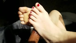 New Years Eve Footjob