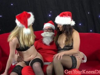 Horny Santa gets a ho ho blow
