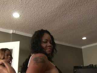 Two BBW Ebony Moms Destroyed by Big Black Cock and Gets Ass Cum Blasted