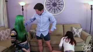 Preview 1 of Anal Delinquent: Babysitters Blackmailed [FULL VID] Taurus & Raquel Roper