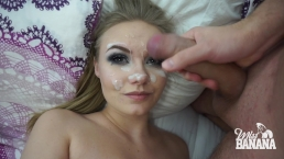 Hot amateur girl gets a huge facial - Miss Banana