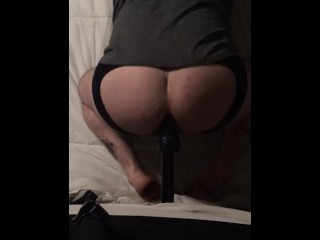 Big Dildo Riding Session