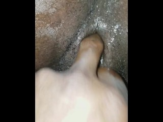 Squirts while she playing with her pussy
