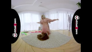 cute flexible teen gets stretched by her girlfriend