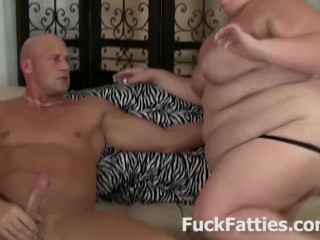 Fatty Slut Pierced Nipples Riding Hard Cock
