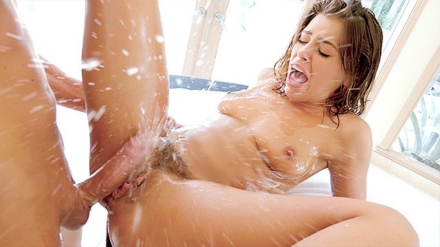 LUBED Hazel eyed Adriana Chechik big dick fuck and facial