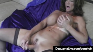 Hot Blooded Cougar Deauxma Dildo Fucks Her Pussy & Squirts!