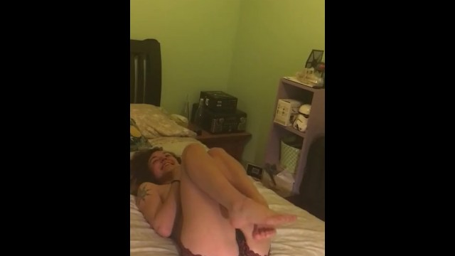 First Naughty video, Blue Dildo and orgasms!