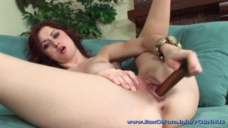 Dirty Talk From Flawless Redhead Slut Karlie Montana As She Vibrates Pussy!