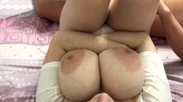 Cum on big tits of my girlfriend