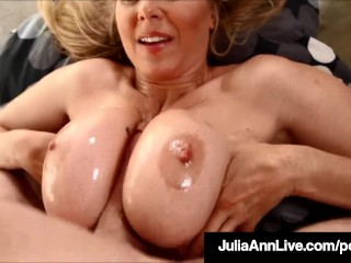 Busty Blonde Milf Julia Ann Loves Hot Loads Of Cum On Her!
