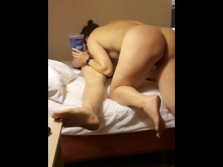 Girlfriend gives boyfriend the attention his cock and ass have been dying f