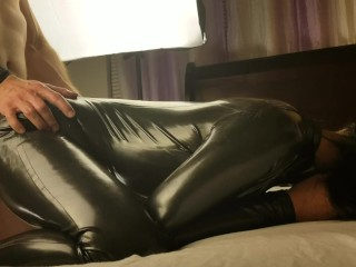 Full body latex suit fucked from behind