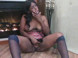 black slut orgasm