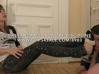 Cassandra's Laundry Discipline - DreamgirlsClips.com