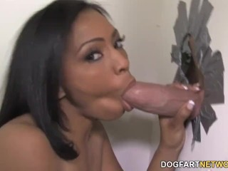 Ebony Anita Peida Sucks Huge White Dick At Gloryhole