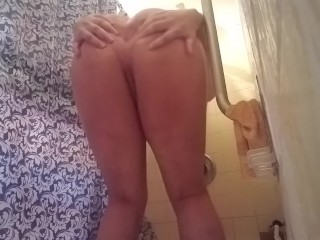 Playing with my ass in the shower a bit