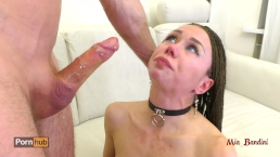 Extreme deethroat choking face fuck. Mia Bandini