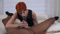 Tiny Cute Redhead takes Dredd's massive BBC and creams all over it!
