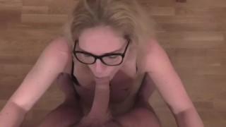 Milf with glasses Pov blowjob