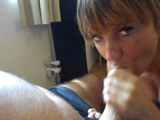 Very Horny Teen suck dry her Stepbrother POV and swallow all his cum part1