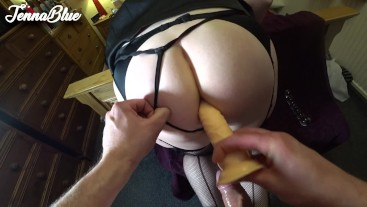 Jenna being a good little ANAL SLUT girl taking toys and cock deep!