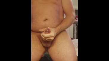 60fps Penis Plug Jerk Off Big Cumshot