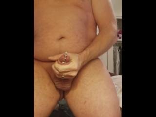 60fps Penis Plug Jerk Off Big Cumshot