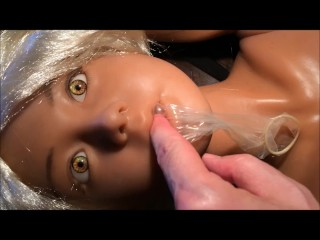 Sex Doll Mia & I 6th Video! Facial, Cumshot, Blowjob, Condom Play, Amateur