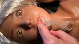 Sex Doll Mia & I 6th Video! Facial, Cumshot, Blowjob, Condom Play, Amateur