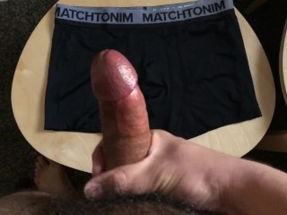 Cum on my roommate boxer