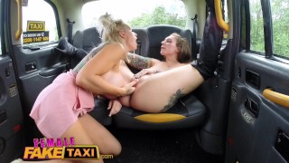 Blondes session fake seat busty taxi lesbian taxi female fuck hot back femalefaketaxi big