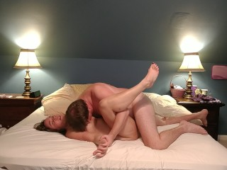 Curvy milf goddess in passionate missionary fuck