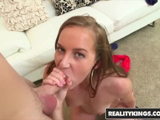 Cum Fiesta - Charli Maverick's first time in porn