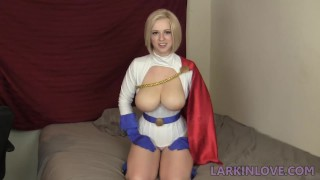 Power Girl Triple Cumshot Cosplay Joi Superheroine Tits
