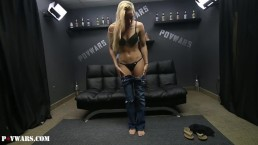 Young hot blonde fucks 5 strangers in a row