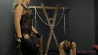 Mistress Alexis Monroe Makes Her Slave Worship Her Ass & Feet