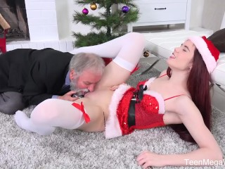 Sexy Redhead Bush Fucking, Old-n-Young.com #ИМЯ? Lux- Ginger elf finds a dildo under Christmas tree