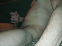 Young twink jerking off and cumming hard