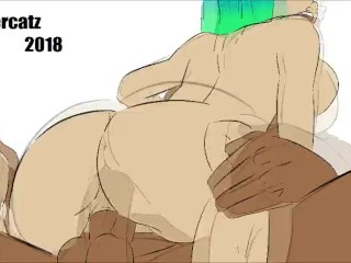 Hentai animation- Got a big black juicy dick by boyfriend
