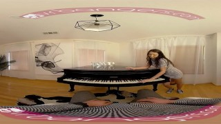 Preview 1 of VR PORN - Horny Student Fucks Her Piano Teacher