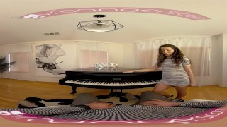 Preview 3 of VR PORN - Horny Student Fucks Her Piano Teacher