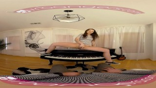 Preview 5 of VR PORN - Horny Student Fucks Her Piano Teacher