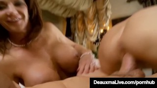 Sexy Milf Deauxma Blindfolds Kelly Madison & Fucks Hubby! Young saboom