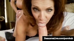 Sexy Milf Deauxma Blindfolds Kelly Madison & Fucks Hubby!