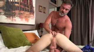 Bratty Son's Anal Punishment from Bear StepDaddy! And on