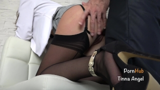 Secretary Fucked By Her Boss, Squirt, Creampie Blowjob 3some