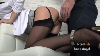 Secretary Fucked By Her Boss, Squirt, Creampie Cock twosome