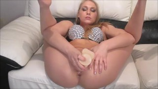 Filthy Dutch girl dildo play